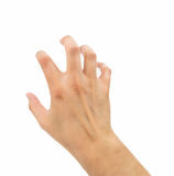 The hand is clawing Royalty Free Stock Image