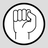 A hand clenched into a fist. Icon Royalty Free Stock Photo