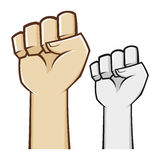 Hand clenched fist symbol Stock Images