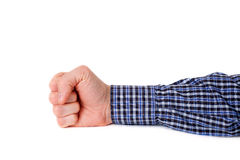 Hand with clenched fist Royalty Free Stock Images