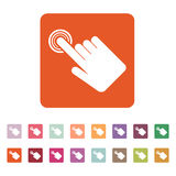 The hand click icon. Cursor symbol. Flat. Vector illustration. Button Set Royalty Free Stock Images