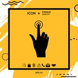 Hand click icon. Element for your design Royalty Free Stock Photography