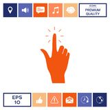 Hand click, icon. Signs and symbols - graphic elements for your design Stock Photos