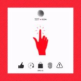Hand click, icon. Signs and symbols - graphic elements for your design Royalty Free Stock Image
