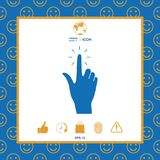 Hand click, icon. Signs and symbols - graphic elements for your design Royalty Free Stock Photos
