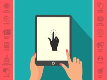 Hand click, icon. Signs and symbols - graphic elements for your design Royalty Free Stock Images