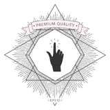 Hand click, icon. Signs and symbols - graphic elements for your design Royalty Free Stock Photo
