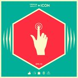 Hand click icon. Signs and symbols - graphic elements for your design Royalty Free Stock Image