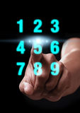 Hand click number Stock Images