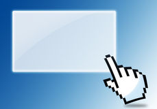 Hand clicking icon Royalty Free Stock Photography