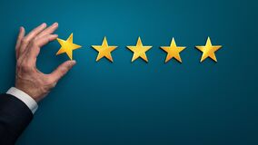 Hand of client giving a one star rating, bad experience