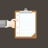 Hand Clipboard Flat Design Royalty Free Stock Photos
