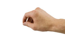 Hand with clipping path Royalty Free Stock Photo