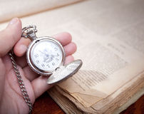 Hand with clock Royalty Free Stock Photo
