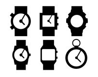 Hand clocks  icons. Vector stylized clock icons for illustration or website or logotype Royalty Free Stock Photo