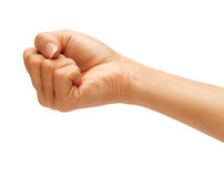 Hand with closed fist Royalty Free Stock Photo