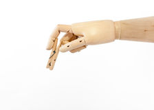 Hand and clothes peg Royalty Free Stock Photo