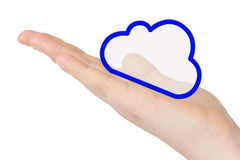 Hand with cloud Royalty Free Stock Images