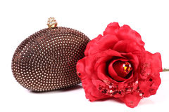 Hand clutch and flower Royalty Free Stock Image