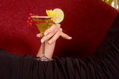 Hand with cocktail Stock Image