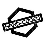 Hand-Coded rubber stamp Royalty Free Stock Photos