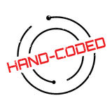 Hand-Coded rubber stamp Royalty Free Stock Images