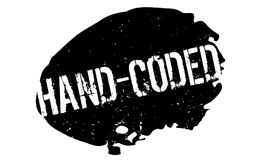 Hand-Coded rubber stamp Royalty Free Stock Image