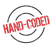 Hand-Coded rubber stamp Royalty Free Stock Photo