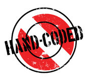 Hand-Coded rubber stamp Royalty Free Stock Photography