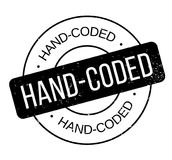 Hand-Coded rubber stamp Stock Image