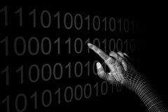 Hand coding Royalty Free Stock Image