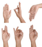 Hand Collage Royalty Free Stock Photos