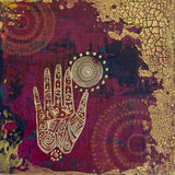 Hand collage artwork Stock Photos