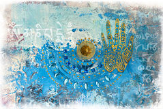Hand collage artwork Royalty Free Stock Image