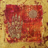 Hand collage artwork Stock Photography
