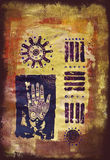 Hand collage artwork Royalty Free Stock Photo