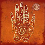 Hand collage artwork Stock Images