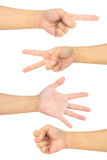 Hand collection Stock Photo