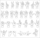 Hand collection Royalty Free Stock Photography
