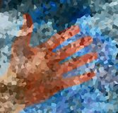Hand and color abstract background. Structure background. Royalty Free Stock Photography