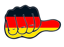 Pressure hand with nation color thumb even germany Royalty Free Stock Images