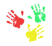 Hand Color Print. Graphic Vector EPS10 Royalty Free Stock Photo
