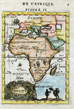 Hand colored Antique historic Map of Africa  1683 Stock Photography
