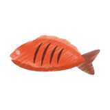 Hand colored drawing fish icon Royalty Free Stock Photo