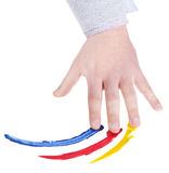 Hand that colors Stock Images