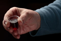 Hand with Communion Cup Stock Photography