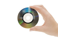 Hand with compact disk Stock Image