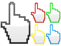Hand computer cursor Stock Photos