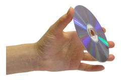Hand computer disk Royalty Free Stock Photography