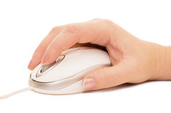 Hand with a computer mouse Royalty Free Stock Photography